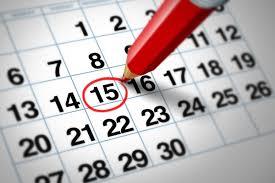 kalender met pen